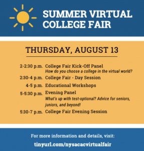 Summer Virtual College Fair @ Zoom Webinar